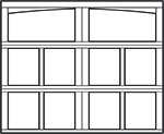 7 ft garage door arched top - design style Newport