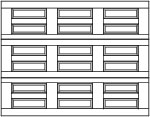 7 foot Horizontal Raised fiberglass garage door panels