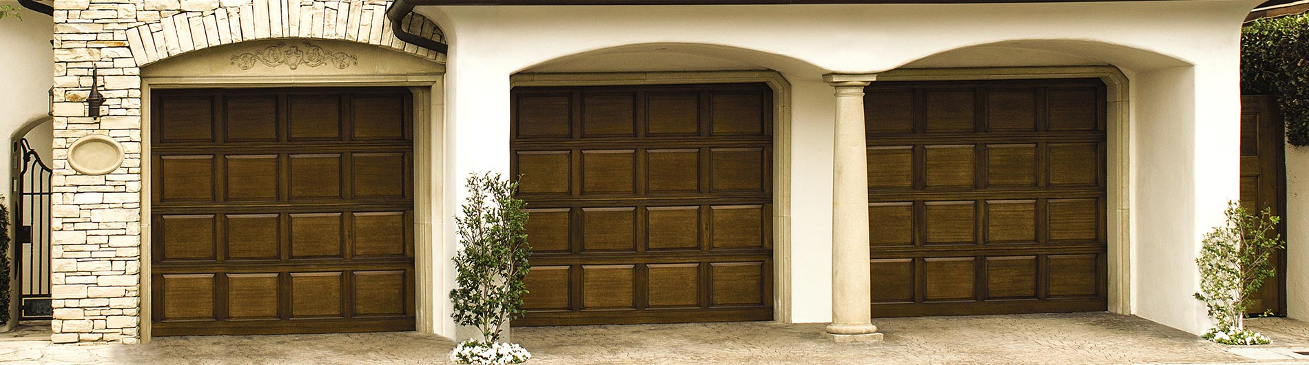 wood garage door custom stain