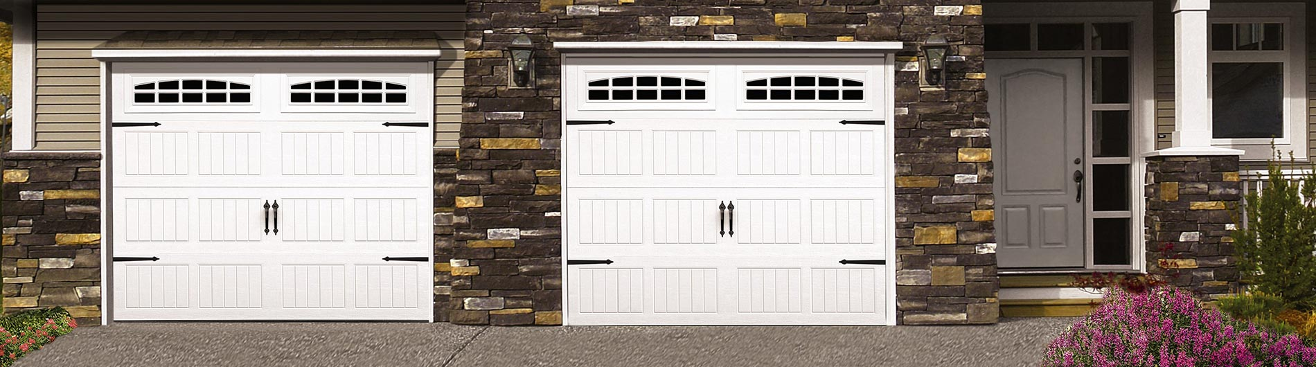 Classic Steel 8100 - Sonoma panel - white - cascade 2 windows