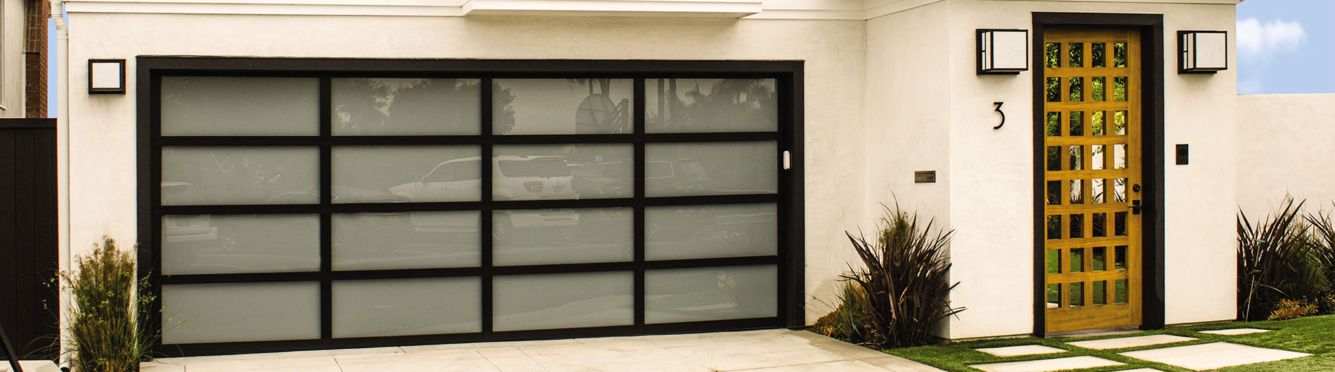 glass garage doors. Model 8800, Black Anodized Aluminum, White Laminated Glass Garage Doors Wayne Dalton