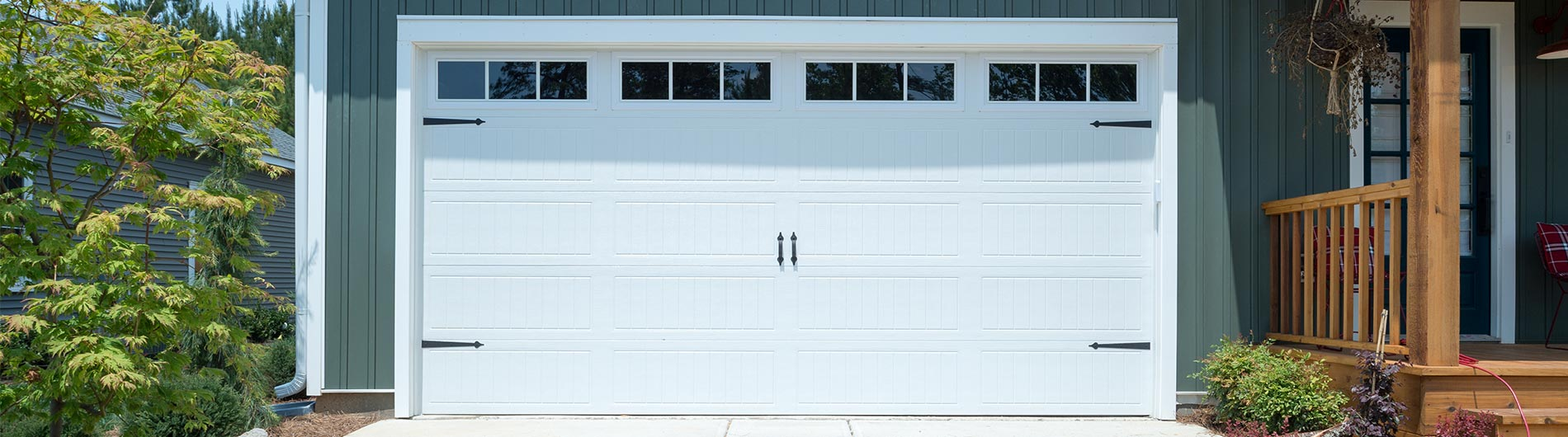 9100 steel garage doors - Garage Door With Door
