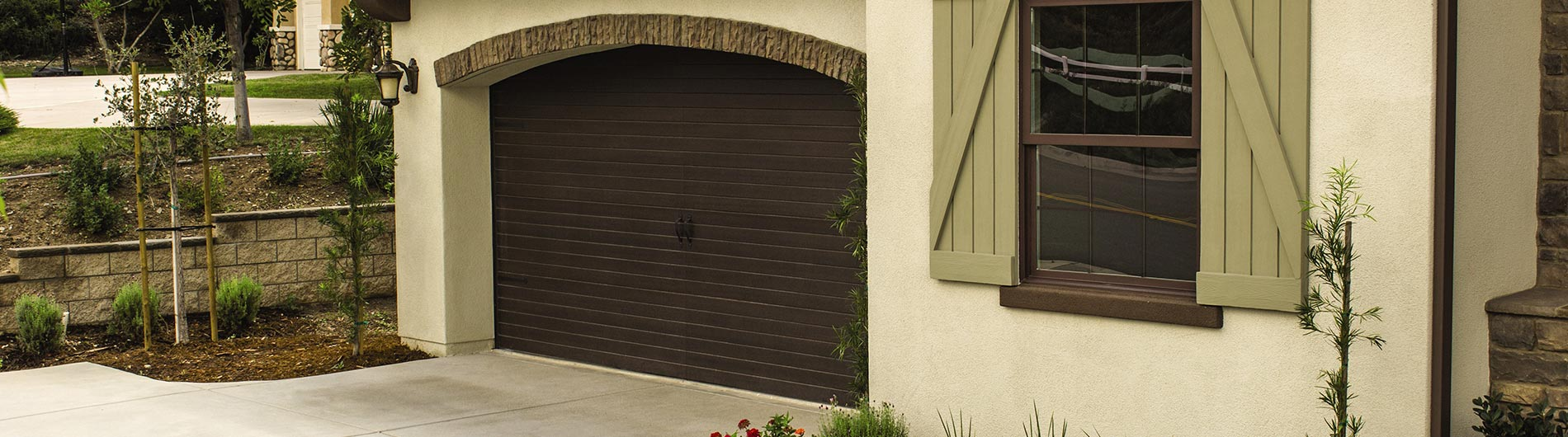 residential garage fiberglass roll doors up