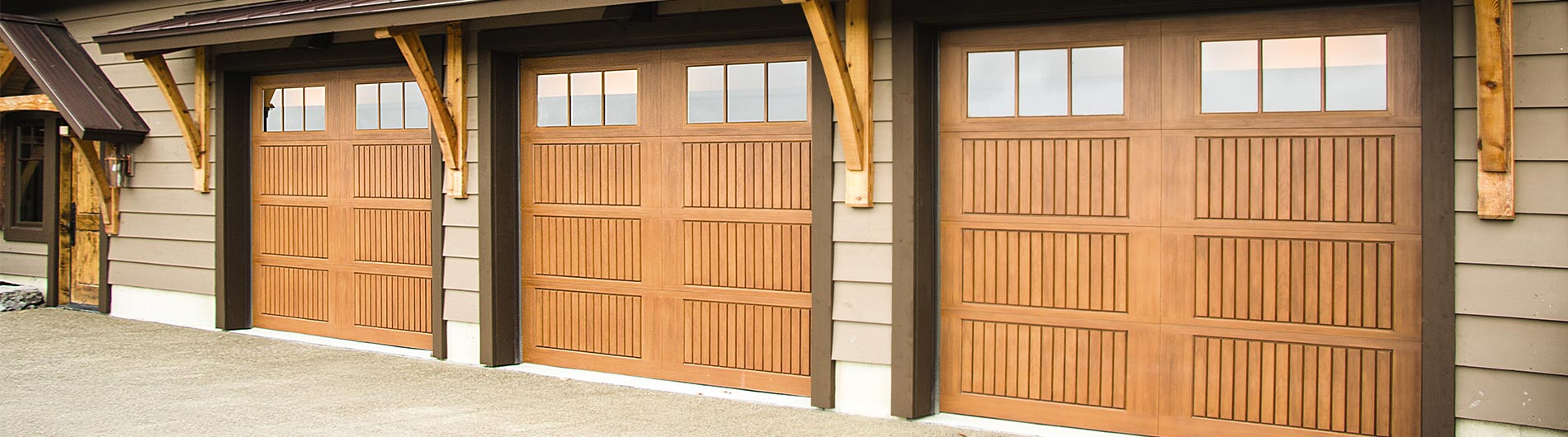 garage doors sonoma fiberglass walnut door