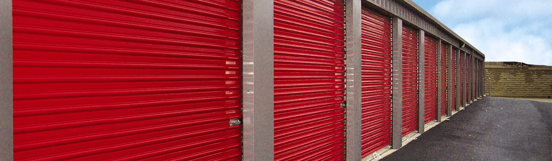 Roll Up Sheet Doors For Storage Facilities And Self Storage