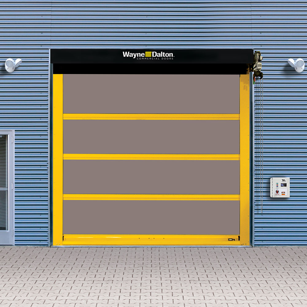 exterior high speed fabric door