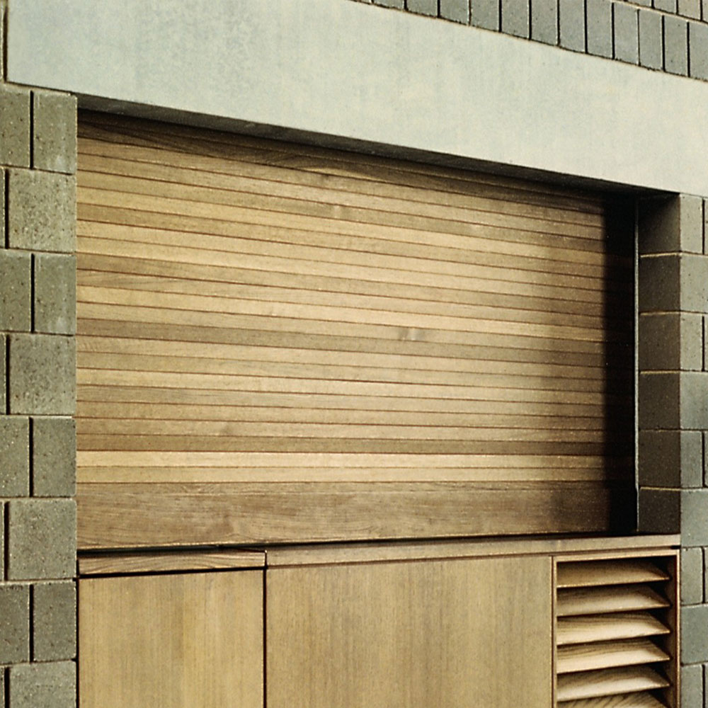 Roll-up Counter Shutter Door Made of Wood | Model 530