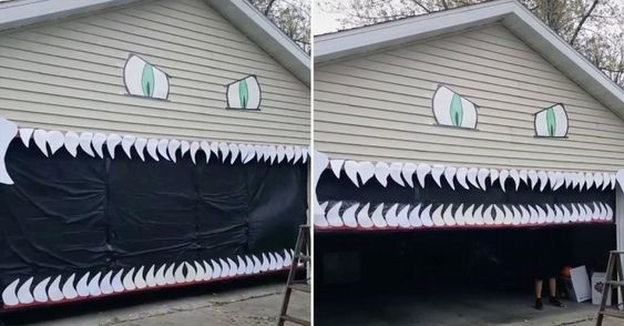 Monster Garage Door with Teeth
