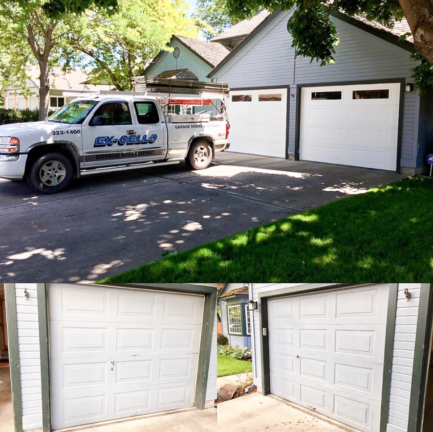 Before and After from Ex-Cello Garage Door