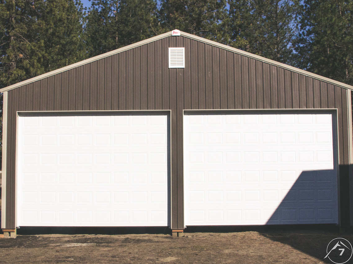 Garage Door on a Shed
