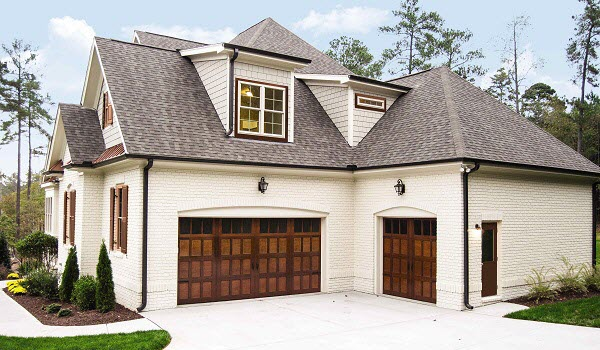 real wood garage door