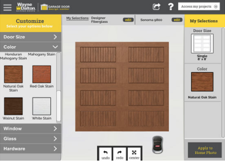 Design a garage door with our new app for Garage design app