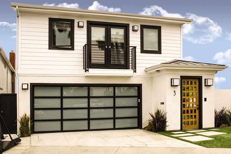 glass garage door modern designs