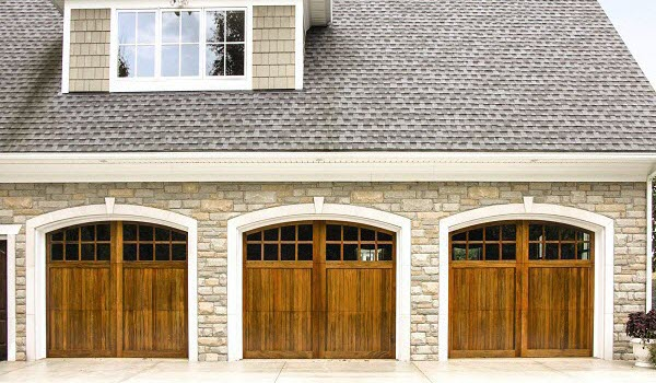 wood garage door design