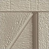 steel garage door with clay paint