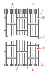 grille pattern for accordion folding grilles