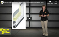 garage door insulation video