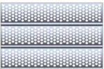 Perforated slat