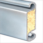 slat profile for insulated rolling steel doors