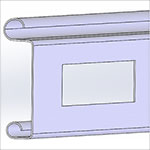 ventilated slat profile for advanced rolling door system